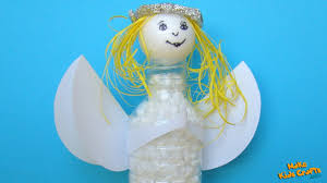 how to make recycled plastic bottle christmas angel diy youtube