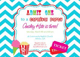 carnival invites birthday party cloveranddot com