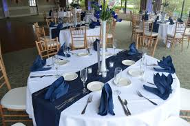 blue wedding reception table decorations backsplash gym