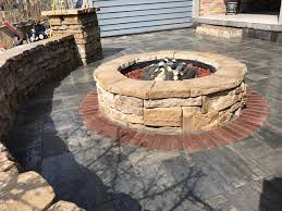 Patio And Firepit Patio With Pit Clearbrook Landscaping And Lawncare