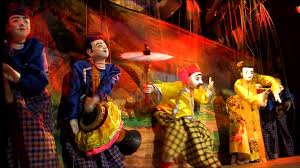 string puppet puppeteer string puppet theater myanmar hd stock 304