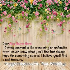 wedding wishes name of marriage day wishes with name