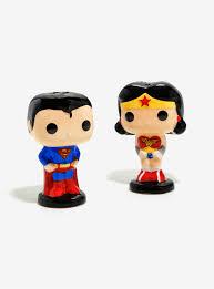 funko pop dc comics superman u0026 wonder woman salt u0026 pepper shakers