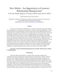 modification si鑒e social sci media an opportunity to customer relationship management a