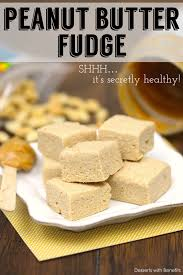 desserts with benefits healthy peanut butter fudge low fat sugar