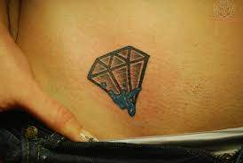 charming diamond girls tattoo design on hip tattoomagz