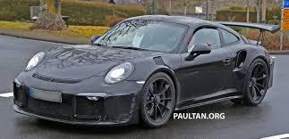 porsche gt3 rs spied porsche 911 gt3 rs facelift bigger engine