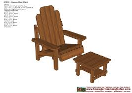 home garden plans gc100 garden chair plans out door furniture