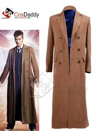 brown costume doctor who dr brown trench coat costume