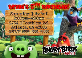 angry birds birthday invitation kustom kreations