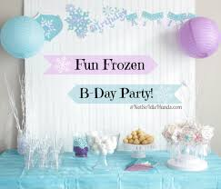 interior design fresh frozen birthday party theme decorations