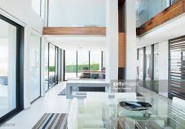 Modern Homes Floor Plans Dining Room And Open Floor Plan In Modern House Stock Photo