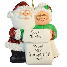 soon to be proud new grandparents ornament