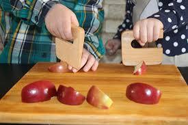 safe knife for children u0027 u0027chop chop u0027 u0027 maple