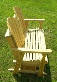 Porch Swing Gliders Furniture Modern Wooden Porch Glider With Cup Holder Awesome