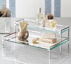 mirrored bathroom accessories tiered mirror tray pottery barn mirrored bathroom accessories genersys