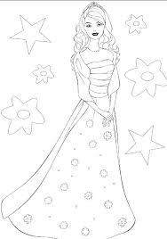 18 dessins de coloriage Princesse Barbie à imprimer