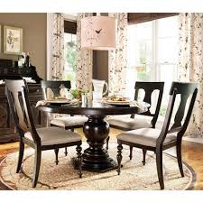 pedestal dining room sets paula deen home 5 piece round pedestal dining table set tobacco