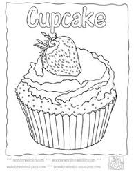 pretty cupcake coloring free printable coloring pages
