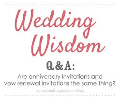 vow renewal invitations are anniversary invitations and vow renewal invitations the same
