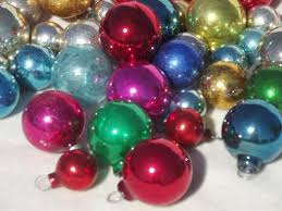 mercury glass balls antique feather tree ornaments