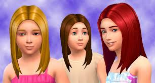child bob haircut sims 4 the sims 4 my stuff straight hair for girls hairstyle base