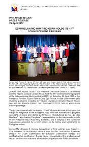 History Of The Filipino Flag Eskuwelahang Munti Ng Guam Holds Its 15th Commencement Program