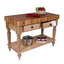 maple kitchen island buy american heritage rustica kitchen island with butcher block
