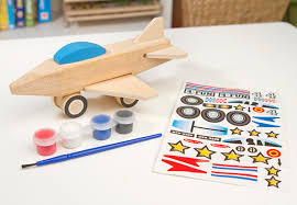 amazon com melissa u0026 doug decorate your own wooden jet plane