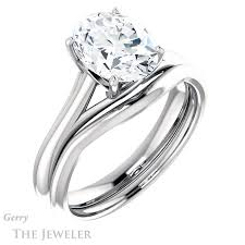 2 carat white gold engagement ring 2 carat oval cut ring setting in 14k white gold gtj916 2 00ct