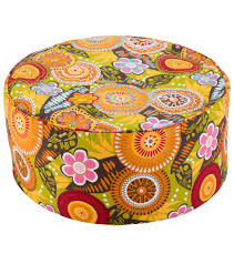 sari pattern zafu meditation cushion barefoot yoga retro pattern tall zafu yoga meditation cushion at
