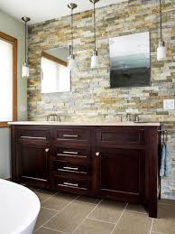 stacked stone tile bathroom contemporary with beige stone wall