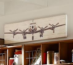 from pottery barn small planked airplane panels pottery barn