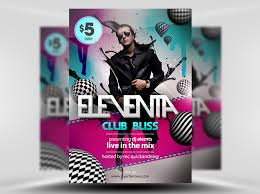 eleventa free photoshop psd party flyer template