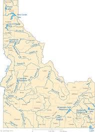 map of idaho cities map of idaho lakes streams and rivers