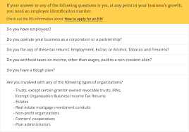 do you need an ein employer identification number