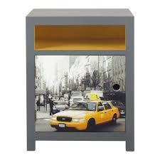 deco new york chambre ado table de chevet gris et jaune l 44 cm cab maisons du monde