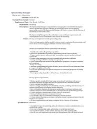 Field Marketing Manager Resume Sponsorship Manager Resume Free Resume Example And Writing Download