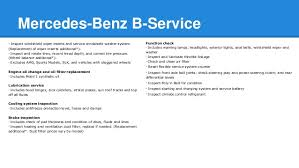 mercedes service prices mercedes a service and b service