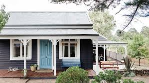 Tiny Victorian Home by Daylesford Cottage Victoria Exterior Colour Scheme