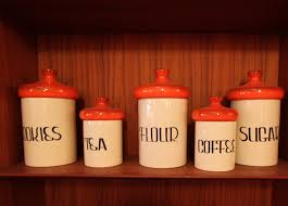 Red Kitchen Canister Design Of Canisters For Kitchen Amazing Home Decor