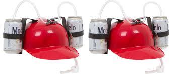 amazon com beer u0026 soda guzzler helmet drinking hat by ez