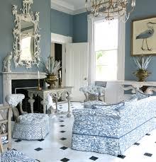 pretty blue white room in carolyne roehm u0027s charleston home this