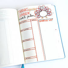 thanksgiving journal planning for the holidays in your bullet journal sweet tea