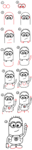 how to draw a minion art for kids hub