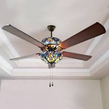 Stained Glass Ceiling Fan Light Shades Ceiling Fan Light Shades Stained Glass Modern Design Throughout