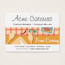 Catering Calling Card Design Home Cooking Business Cards U0026 Templates Zazzle