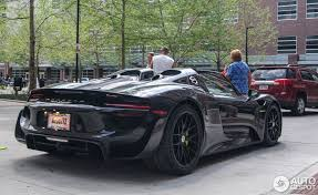 black porsche 918 porsche 918 spyder hypercar spotted in columbus bhp cars
