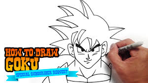 how to draw goku from dragon ball step by step video youtube