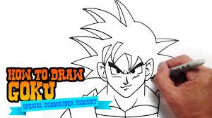 draw goku dragon ball step step video